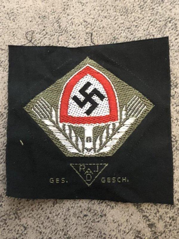 WW2 GERMAN NAZI RAD SLEEVE PATCH