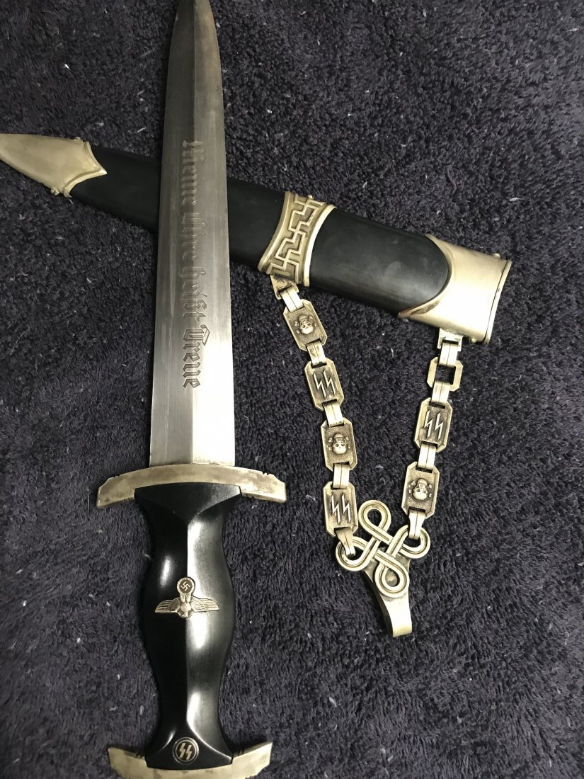 RARE PERIOD 1938 GERMAN SS CHAIN DAGGER WITH TYP. 2