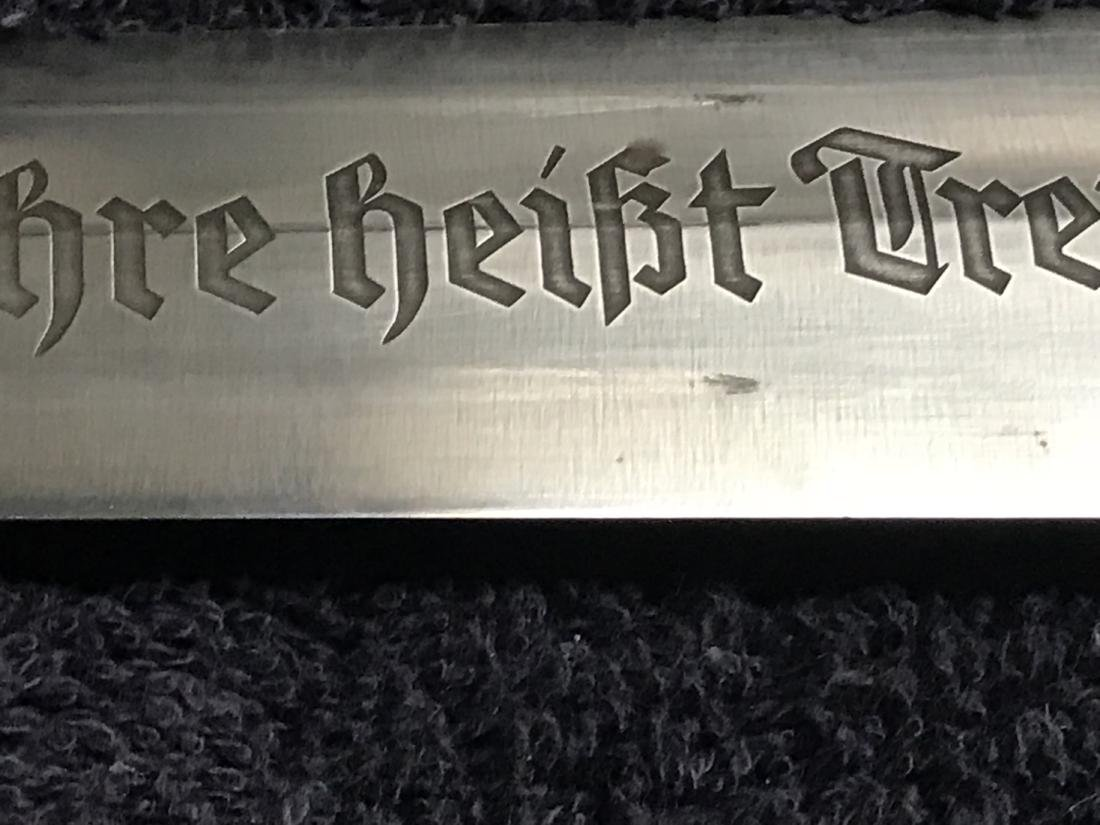 RARE PERIOD 1938 GERMAN SS CHAIN DAGGER WITH TYP. 2 - 7