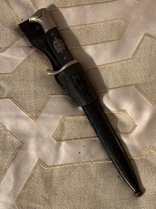 WW2 GERMAN NAZI POLICE DRESS BAYONET WITH SHEATH