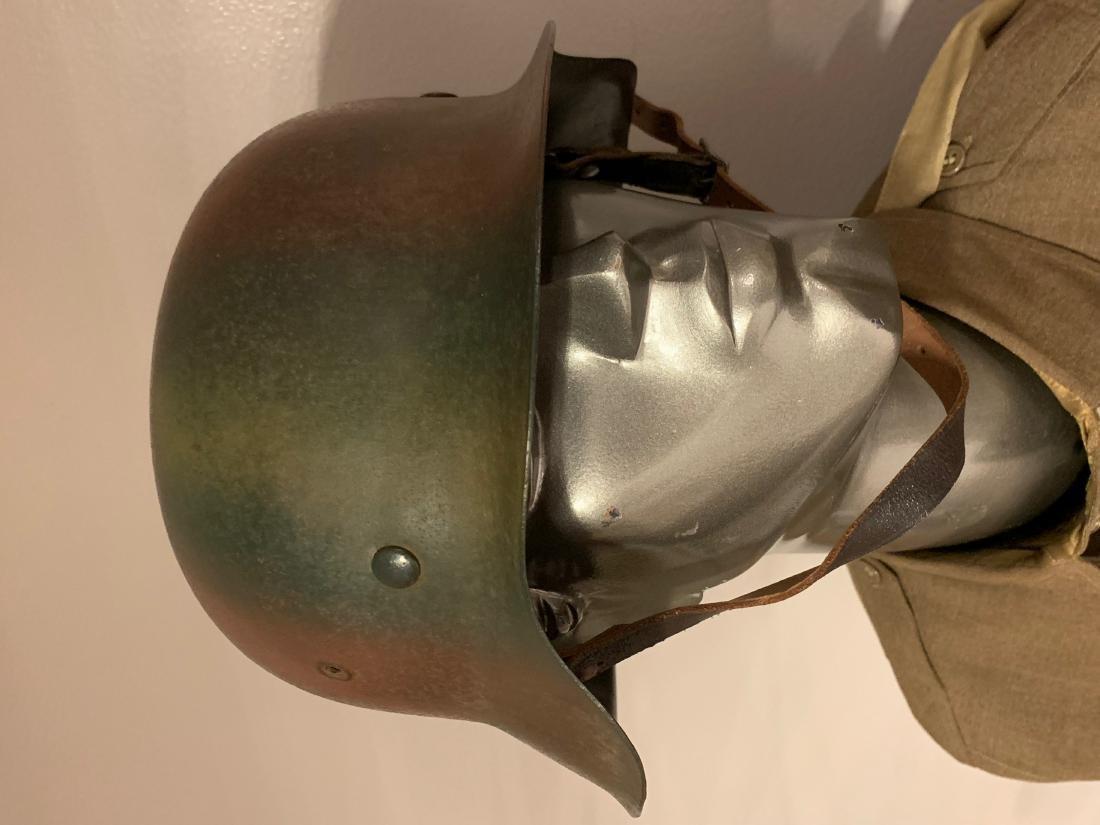ULTRA RARE WW2 GERMAN NORMANDY CAMO HELMET