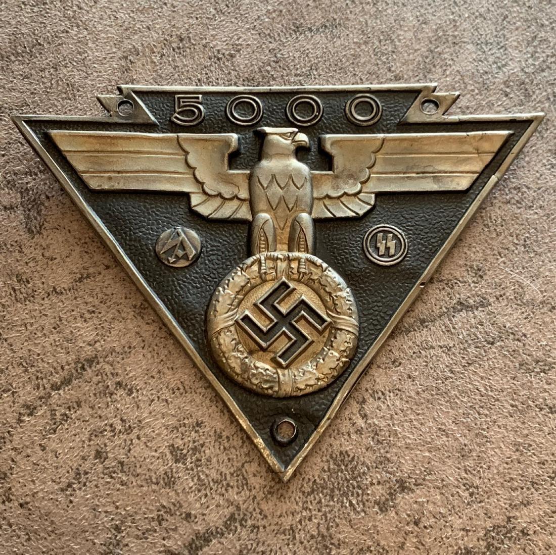 RARE WW2 NAZI WAFFEN SA WAFFEN SS 5000 MILE LICENSE