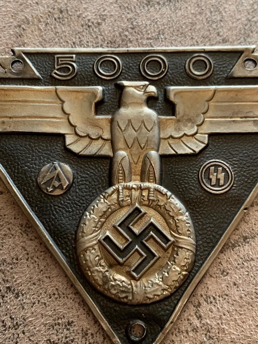 RARE WW2 NAZI WAFFEN SA WAFFEN SS 5000 MILE LICENSE - 2