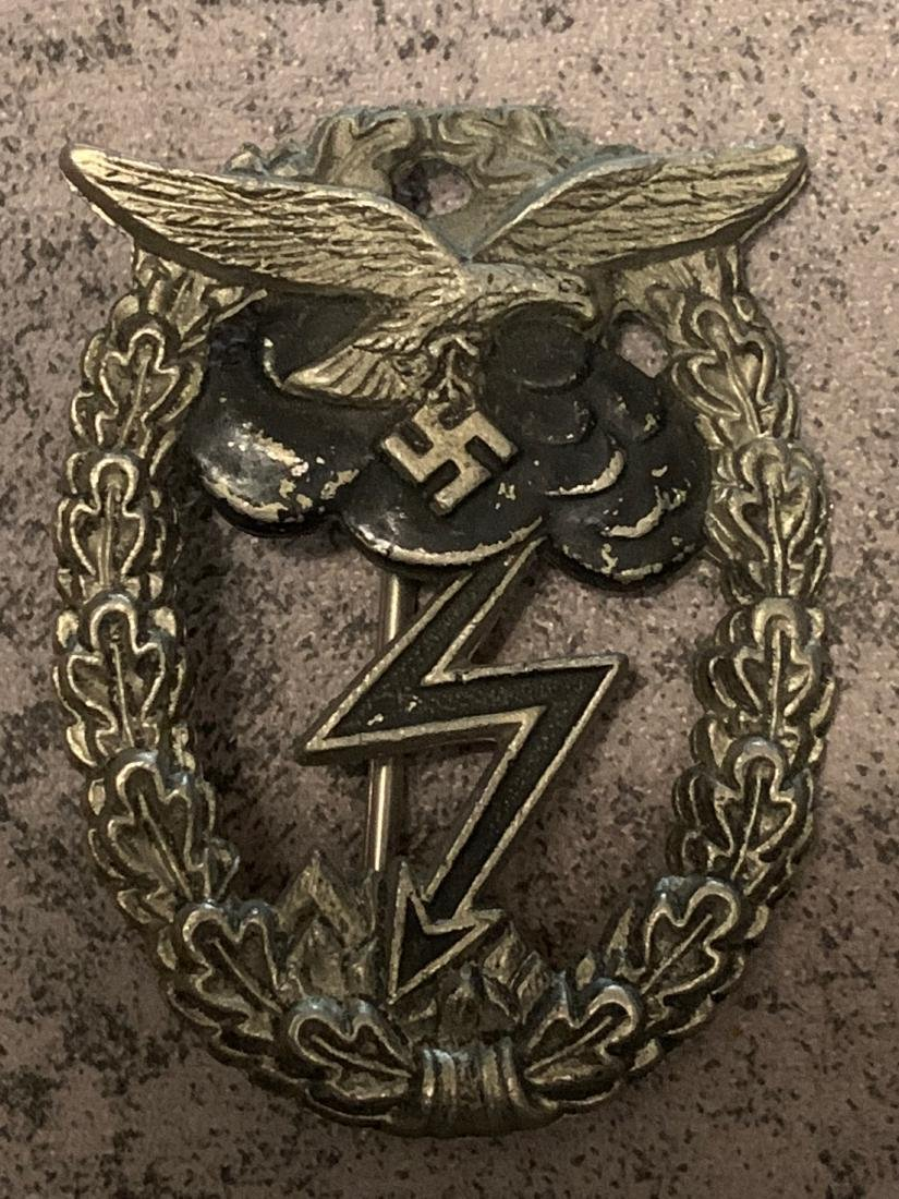 SCARCE WW2 GERMAN LUFTWAFFE GROUND COMBAT BADGE