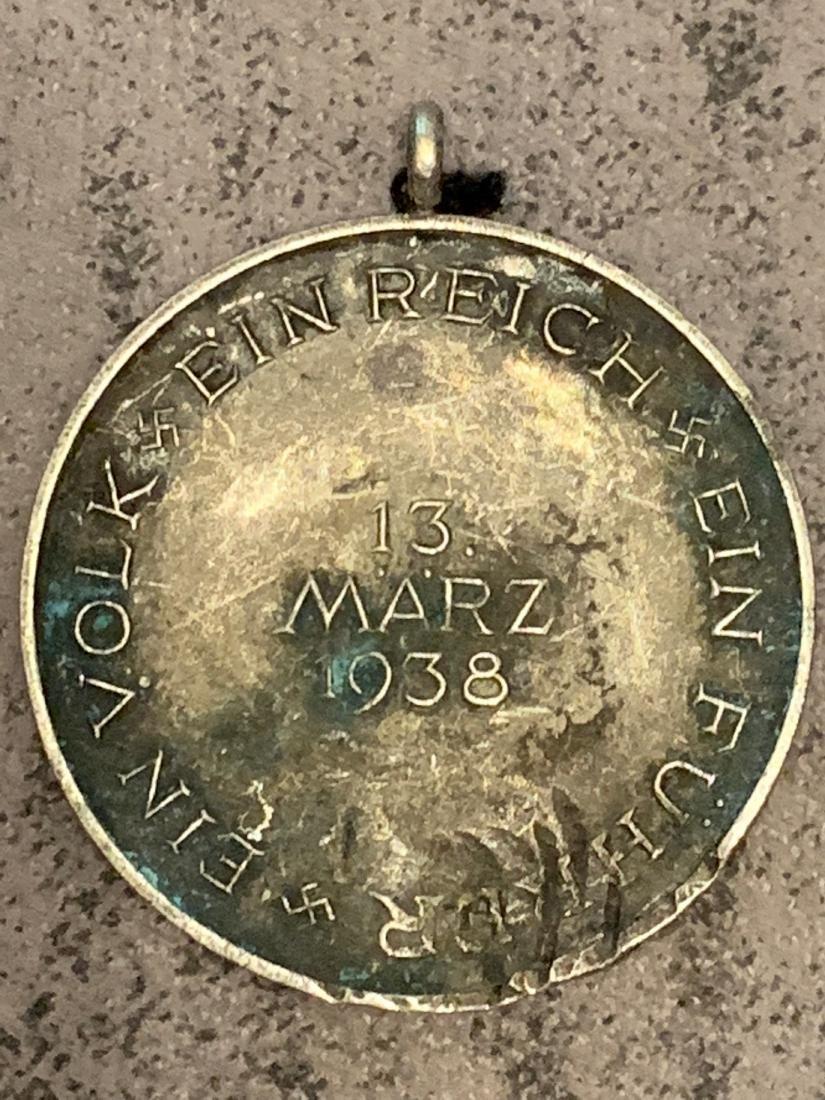 RARE WW2 1938 MARCH 13, COMMEMORATIVE MEDAL - 2