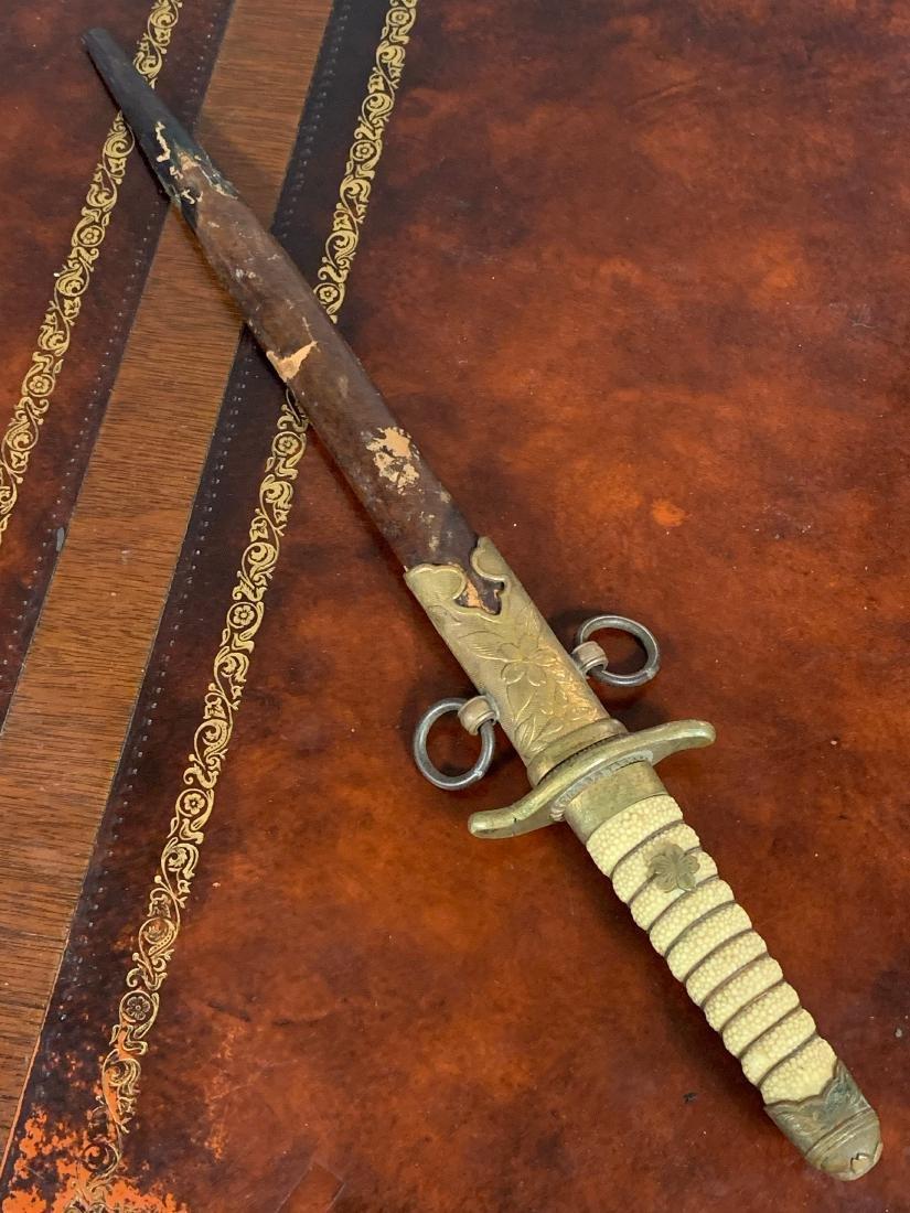 RARE WW2 JAPANESE OFFICERS SHORT SAMURAI SWORD