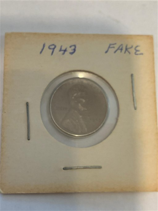 Unusual Fake 1943 Lincoln Wheat Penny Sep 29 2019 Rare