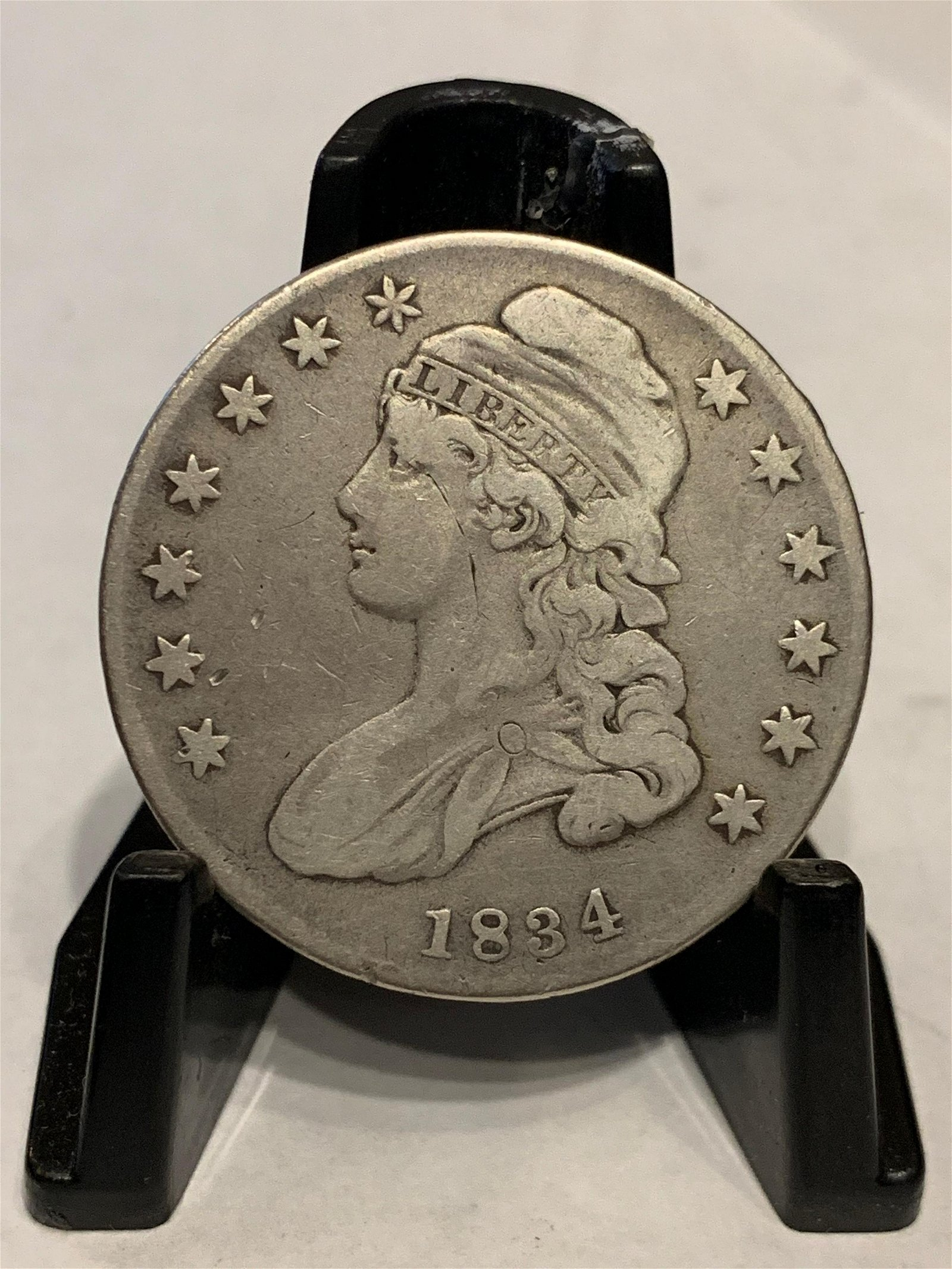 1834 50 CENTS SILVER HALF DOLLAR CAPPED BUST