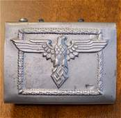 WW2 GERMAN HITLER YOUTH LEADERS BELT BUCKLE