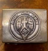 ORIG. WW2 GERMAN HITLER YOUTH BELT BUCKLE