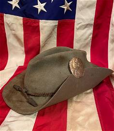 AUTH. CIVIL WAR JOHNNY REB CONFEDERATE SLOUCH HAT