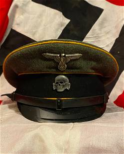 WW2 GERMAN WAFFEN-SS NCO'S VISOR CAP W/MAKER MARKS