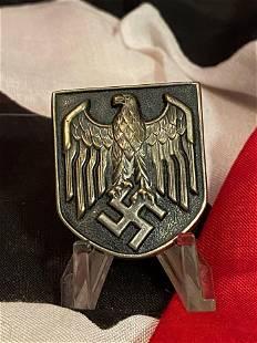 WW2 GERMAN PITH TROPICAL HELMET EAGLE SHIELD