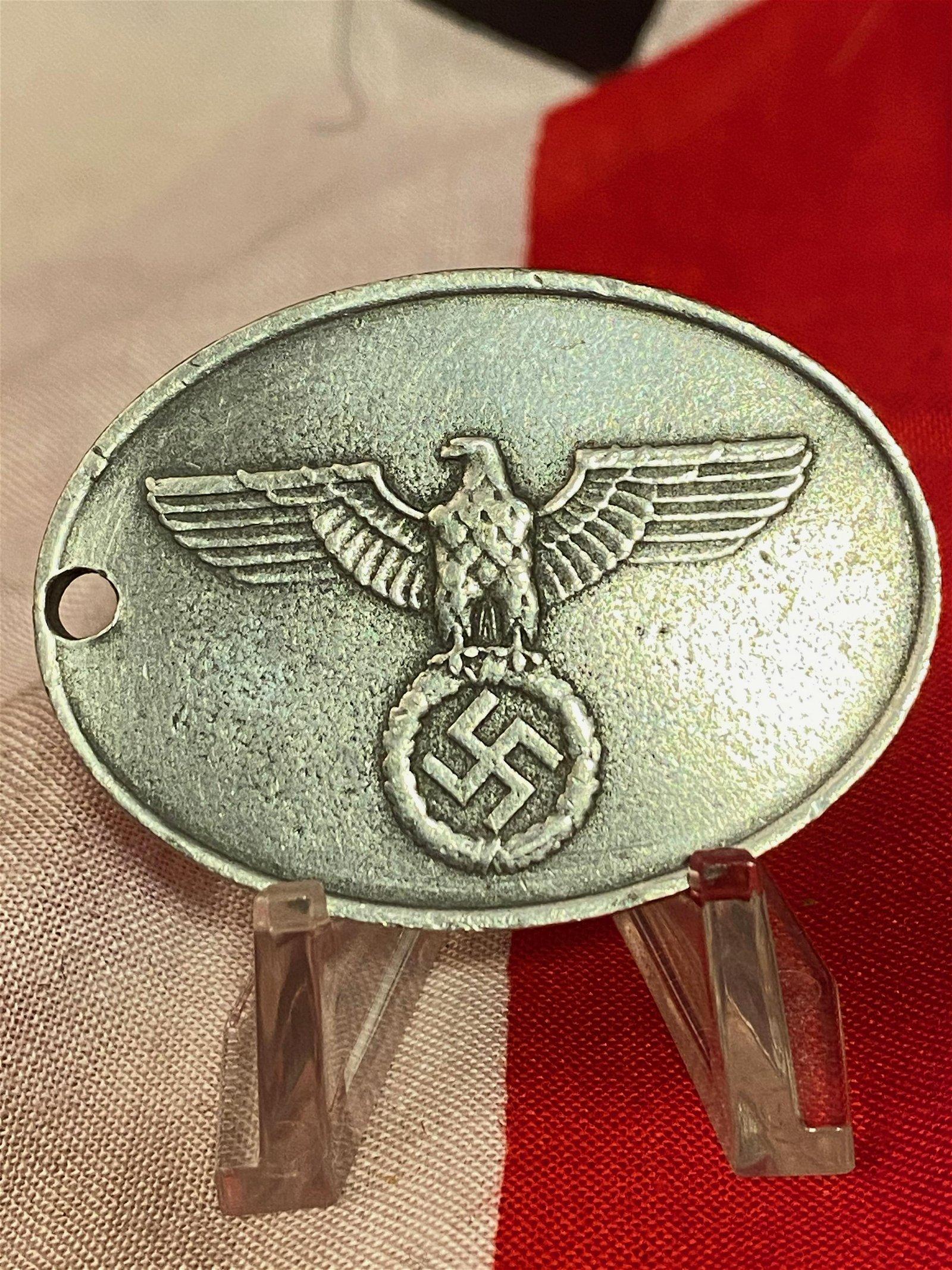 WW2 GERMAN NAZI SECRET STATE POLICE BADGE - GEHEIME
