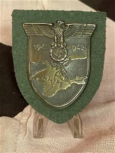 WW2 GERMAN NAZI CRIMEA SHIELD AWARD