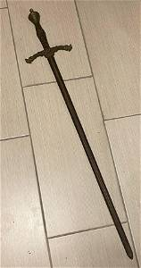 EXTREMELY RARE 16TH CENTURY ENGLISH DECORATED SWORD