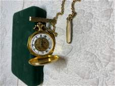HIGH GRADE GOLD FILLED POCKET WATCH WITH FOB