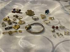 HIGH GRADE JEWELRY LOT  GOLD STERLING SILVER ETC