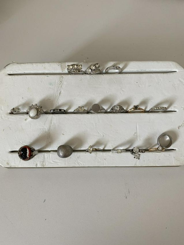 HIGH GRADE LOT OF (18) ANTIQUE STERLING SILVER RINGS