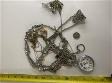 VINTAGE COLLECTION OF STERLING SILVER JEWELRY, WATCHES