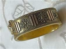 ANTIQUE VICTORIAN GOLD CUFF BANGLE BRACELET