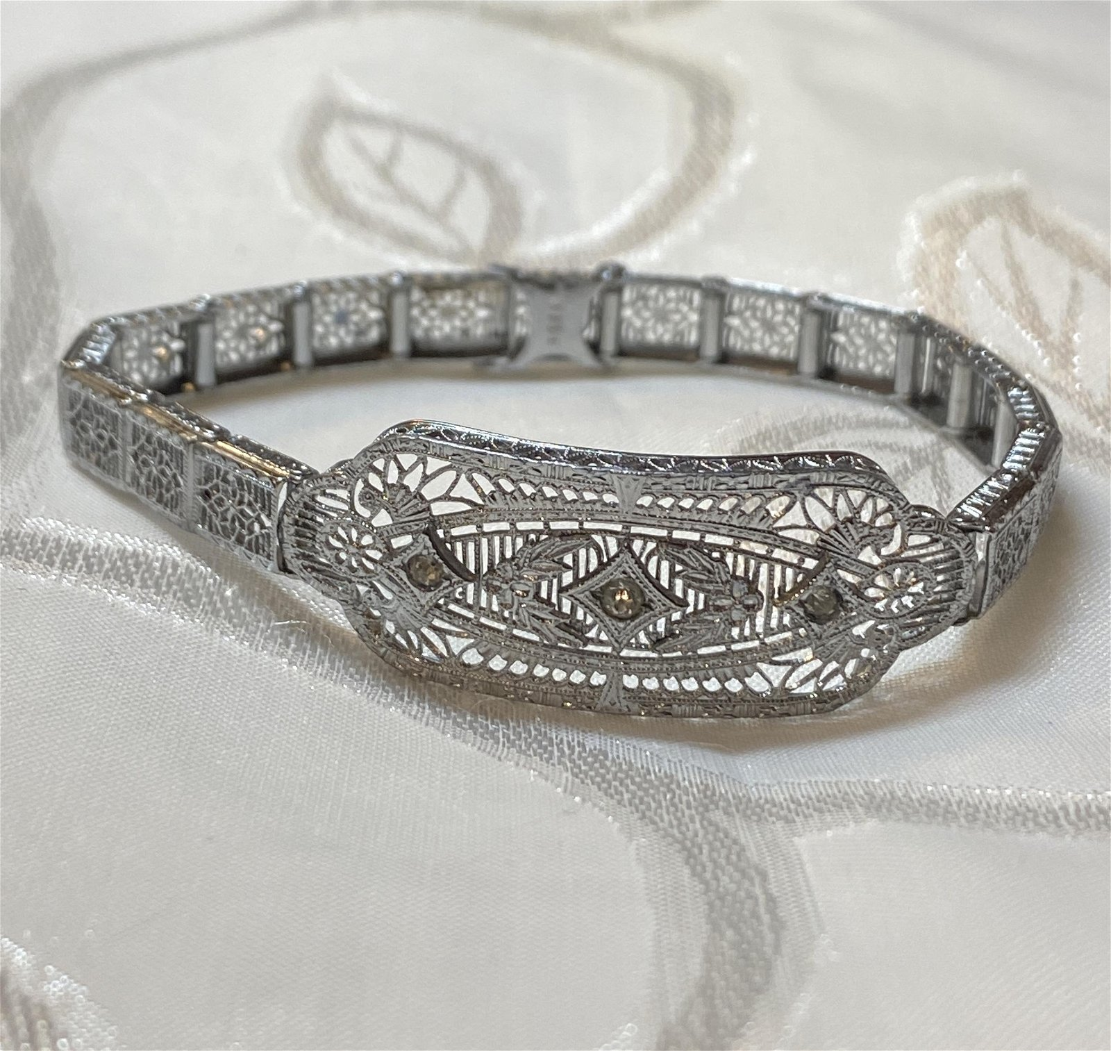 ART DECO STERLING SILVER BRACELET