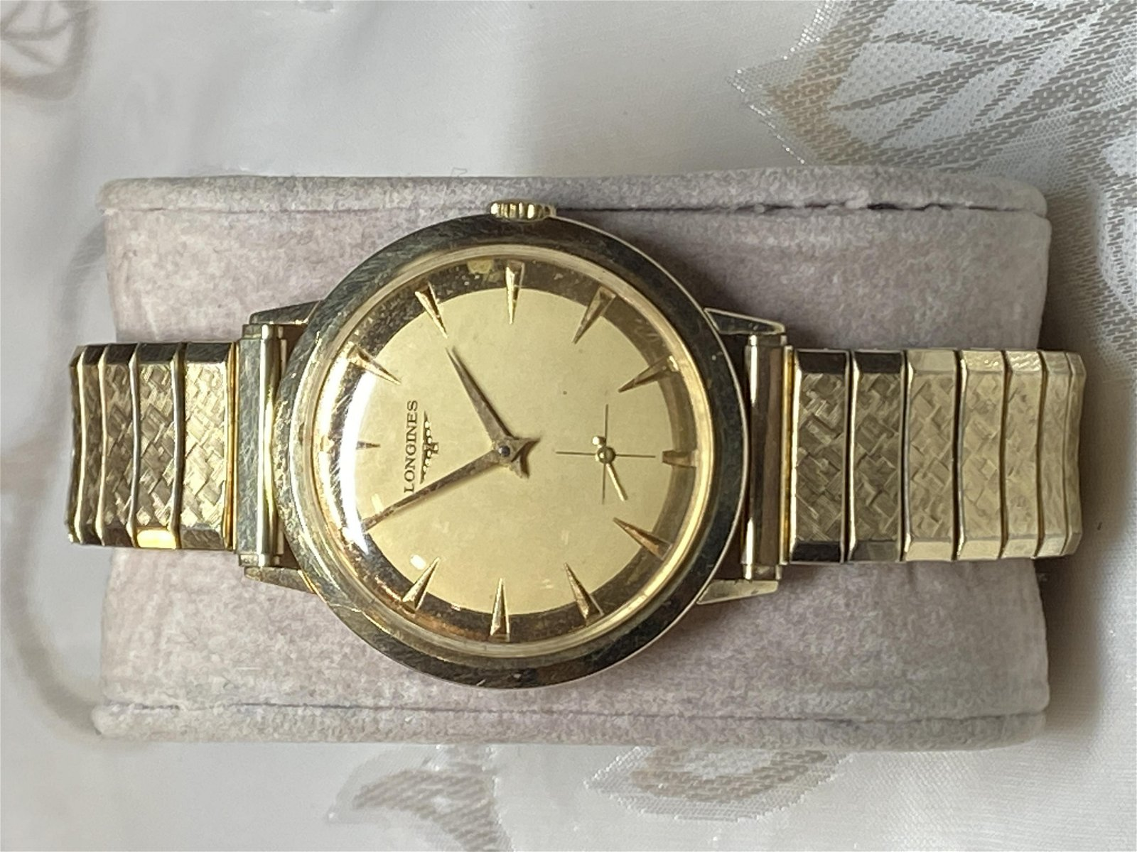 MENS LONGINES 10K GOLD FILLED WATCH