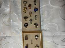 COLLECTION LOT OF 15 GOLDSILVER RINGS