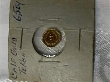 CALIFORNIA 12 GOLD COIN INDIAN HEAD TOKEN