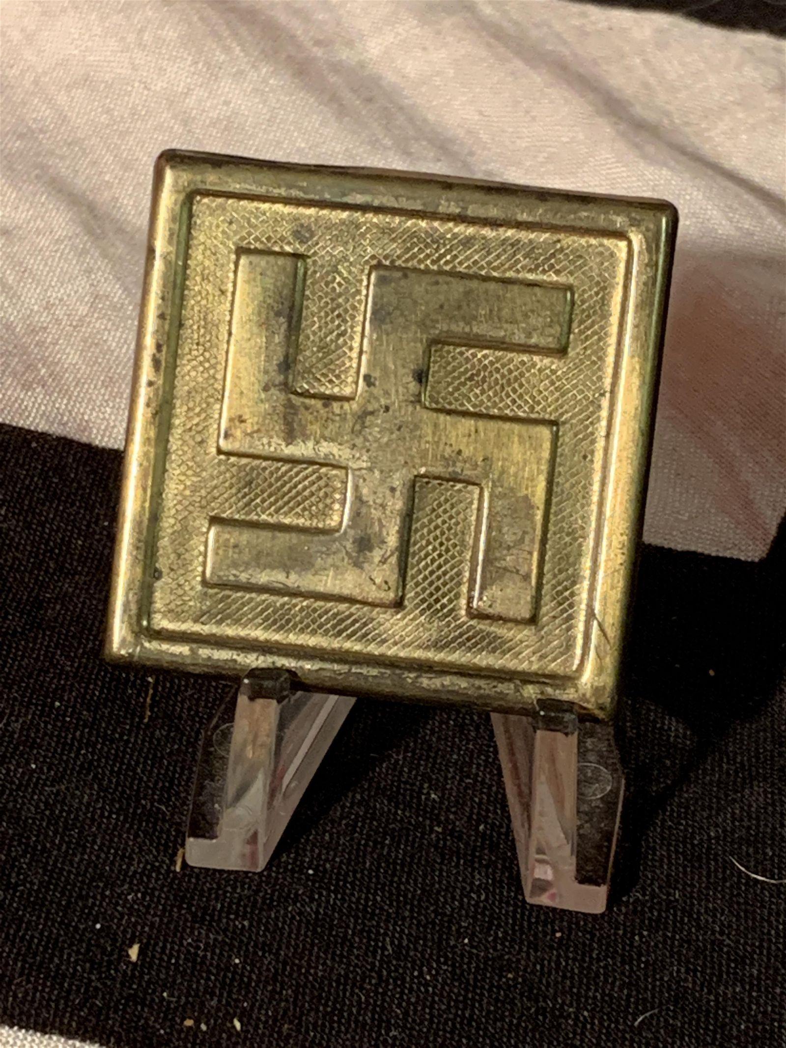 ORIG. WW2 GERMAN HITLER YOUTH BELT BUCKLE