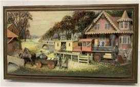 SIGNED ABNER ZOOK 1995 DIORAMA - MUSEUM QUALITY