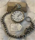RAILROAD HAMILTON  G926 LARGE POCKET WATCH W/HEAVY