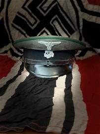RARE WW2 GERMAN WAFFEN SS VISOR CAP