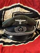 RARE WW2 GERMAN HEER ARMY NCO OFFICER VISOR CAP