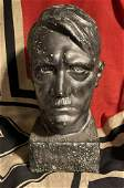 WW2 GERMAN ADOLF HITLER HAND-MADE BUST - SIGNED ARTIST