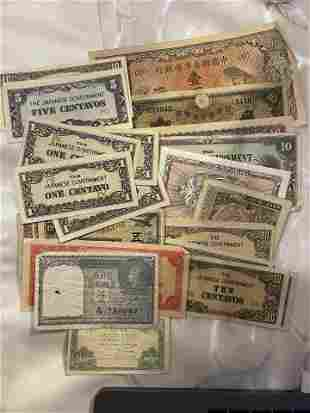 ANTIQUE COLLECTION LOT OF FOREIGN CURRENCY NOTES