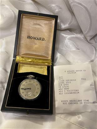 E HOWARD WATCH CO. 17J 10S POCKET WATCH W/ORIG. BOX