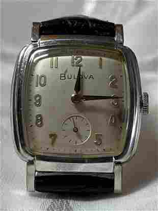 MENS BULOVA HAND-WINDING WRISTWATCH