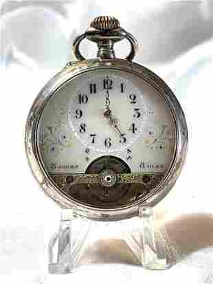 ANCRE JOURS SPIRAL BREGUET POCKET WATCH