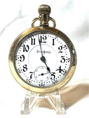 RARE ILLINOIS WATCH CO. MENS POCKET WATCH