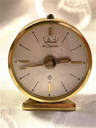VINTAGE LE COULTRE 8 DAYS DESK CLOCK