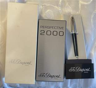 S.T. DUPONT 2000 PERSPECTIVE LIMITED ED. 18K FOUNTAIN