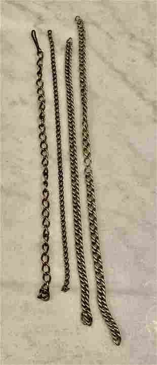 ANTIQUE POCKET WATCH CHAIN FOB LOT OF (4)