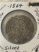 RARE SILVER 1564 GREAT BRITAIN SIX PENCE COIN