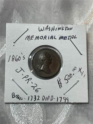 CIVIL WAR WASHINGTON MEMORIAL MEDAL BORN 1782 DIED 1799