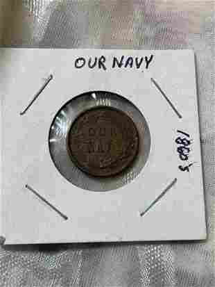 CIVIL WAR 1860'S OUR NAVY TOKEN