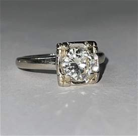 BRILLIANT 14K GOLD 1.0 CT ROUND VS1, G DIAMOND