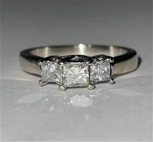 KAY'S 14K WHITE GOLD 1.0 TCW SI1, H-I DIAMONDS WEDDING