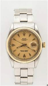 ROLEX 2-TONE OYSTER PERPETUAL DATEJUST WATCH REF. 6605