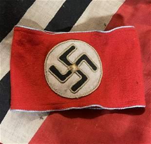 WW2 GERMAN NSDAP ORTSGRUPPE POLITICAL LEADER ARMBAND